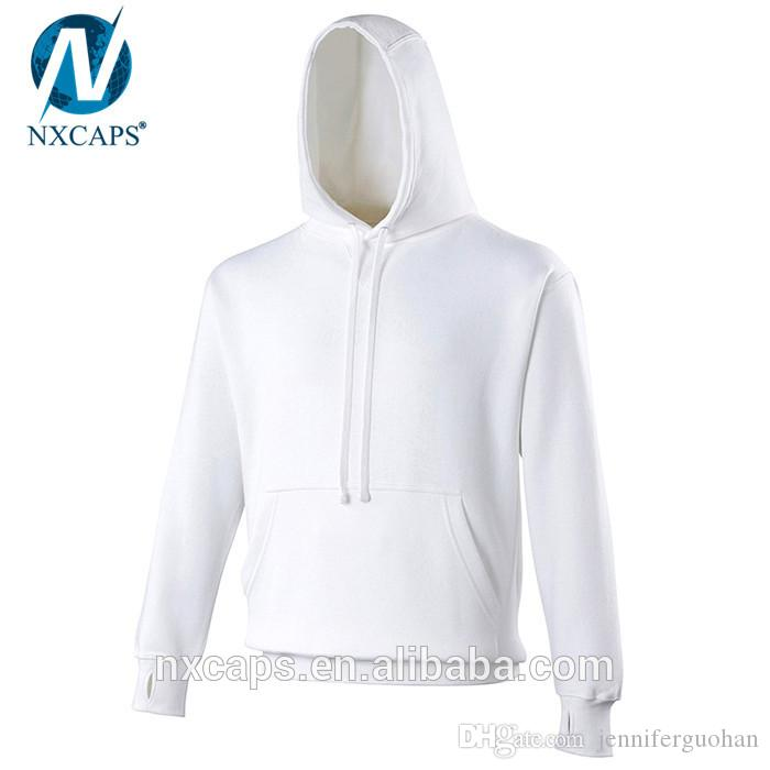2018 Premium Streetwear Hoodies Blank White Hoodie Men Pullover ...