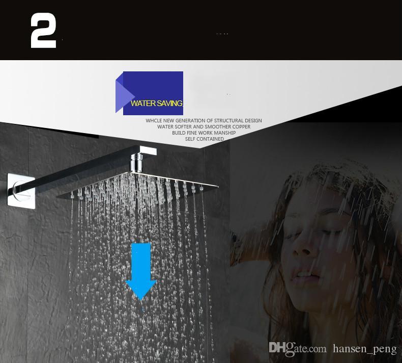 Doccia pioggia a soffitto in ottone da 12