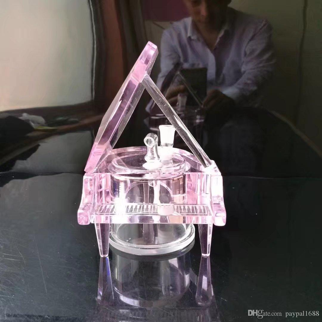 Piano crystal шланги стеклянные бонги аксессуары, стеклянные курительные трубки красочные мини многоцветные ручные трубы Лучшая ложка стеклянная труба