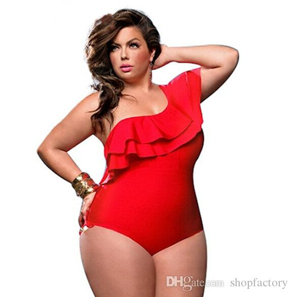 bb38712de14d7 2019 Sexy Women Plus Size One Pieces Swimwear One Shoulder Swimsuit Hollow Out  Swimwear Cut Out Bathing Suit High Quality From Shopfactory, $10.86 |  DHgate.