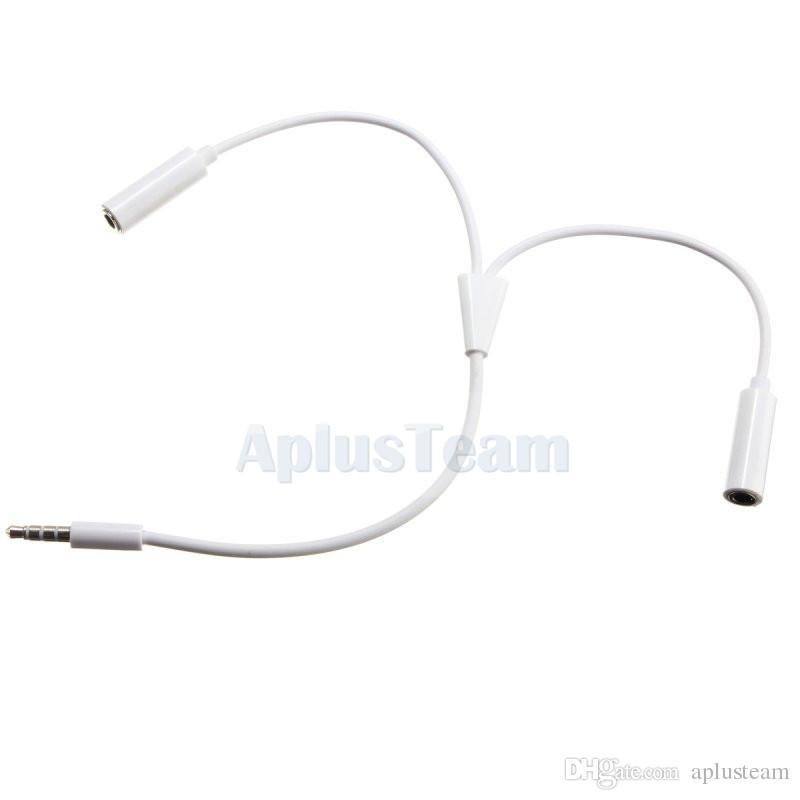 3.5mm Audio Micro Câble Splitter Y Casque Jack Mâle à 2 Dual Femelle Écouteur Adaptateur Stéréo Casque Câble Pour iPhone PC Ordinateur Portable