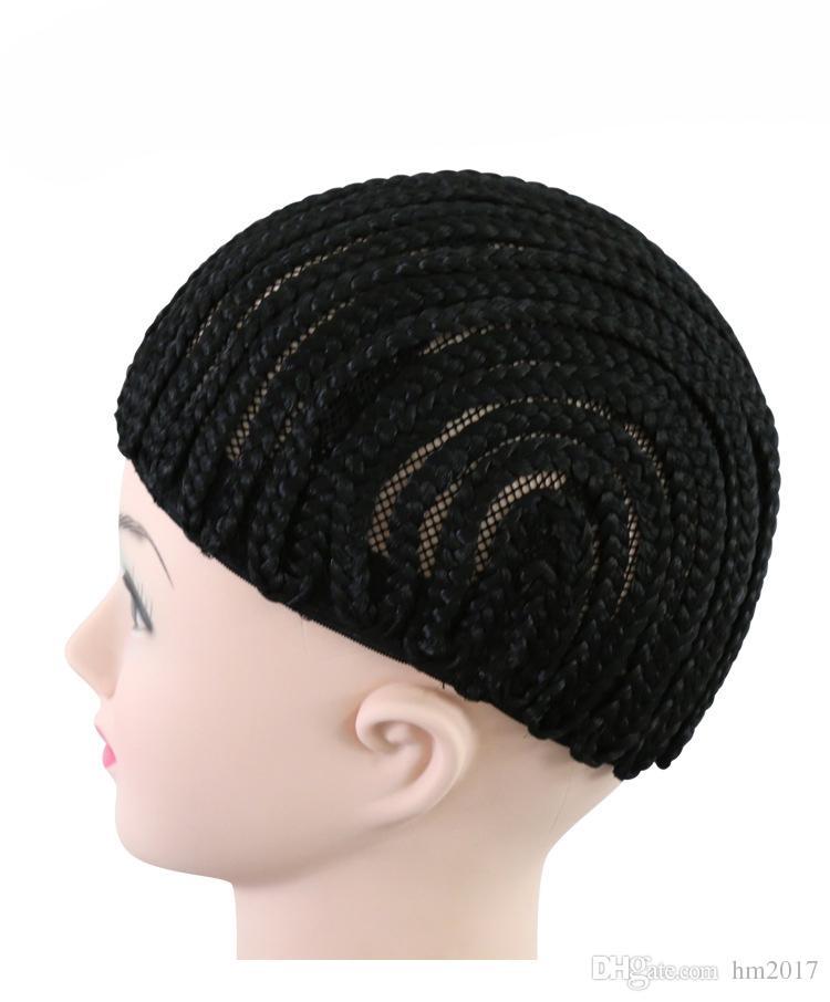 쉽게 가위 검은 가마솥 땋기 가발을 만들기위한 가발 모자 가발 전체 레이스가 발 모자 탄성 메쉬 가발을위한 메쉬 모자