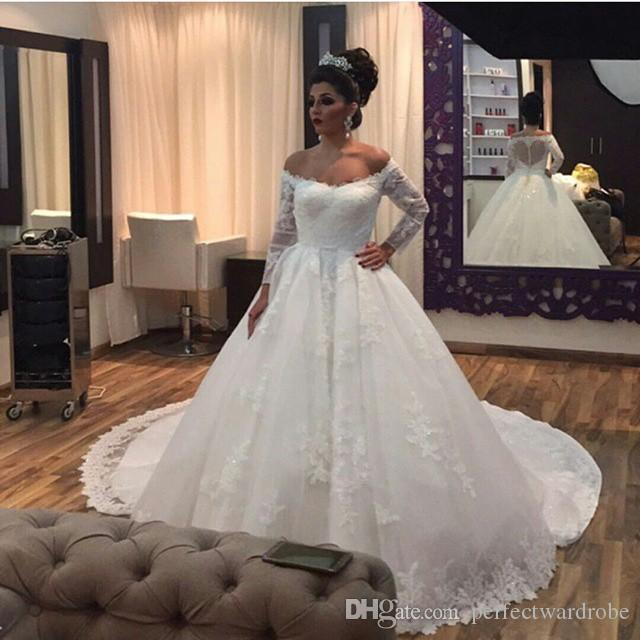 2017 Vintage Wedding Dresses Cathedral Royal Wedding Gowns
