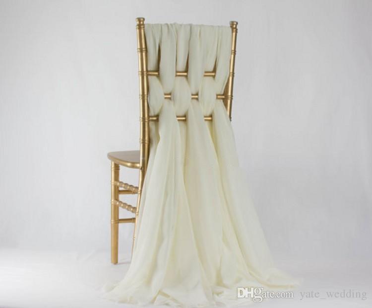 2018 زفاف رومانسي كرسي الزنانير الأبيض العاج حفل عيد حدث شيافاري كرسي ديكور الزفاف كرسي الزنانير الانحناء 200 * 65 cm