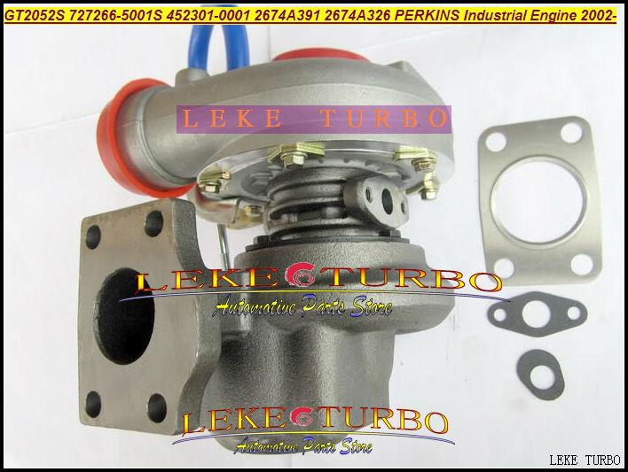 GT2052S 727266-5001S 452301-0001 2674A391 2674A326 Turbo Turbocharger For Perkins Industrial Engine 2002- Diesel (1)