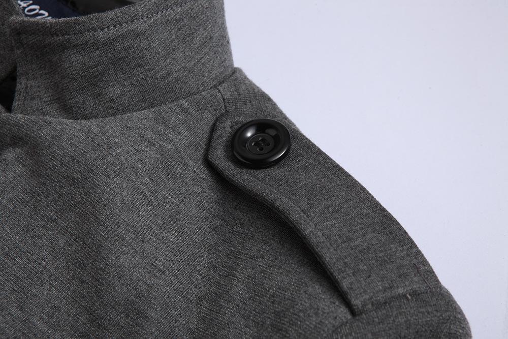 Novas publicações Homens Inverno Casual gola chinesa Túnica Suit Blazer Casacos Preto Individual Breasted Magro Jacket e Brasão M-2XL