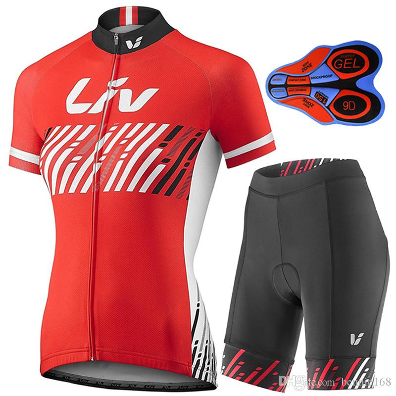 2017 LIV Cycling Jerseys Short Sleeves Summer Style For Women Quick Dry Compressed  Bike Wear Ropa Ciclismo + 9D Gel Pad Shorts Bicycle Cloth Cycling Jerseys  ... c2fcde21d