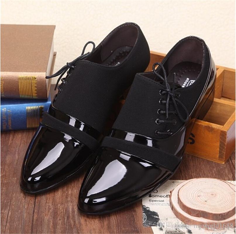 Офисная мужская классическая обувь Мужская костюмная обувь Итальянская свадебная мужская повседневная обувь Оксфорды Man Flats Leather