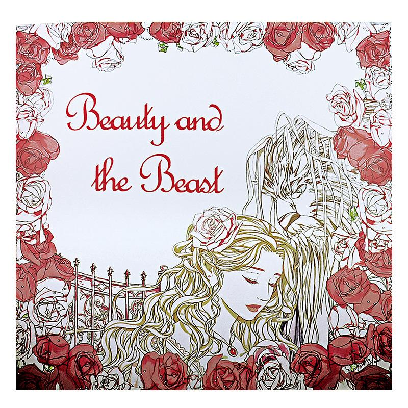 Beauty And The Beast Coloring Book For Adult Kids Antistress Art Books Mandala Secret Garden Quiet Color Drawing 2525cm 24Pages
