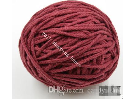 013 Швейная фурнитура 5MM восемь цвет хлопка веревки брюки шнурок карман DIY ручной хлопка веревку карман карман