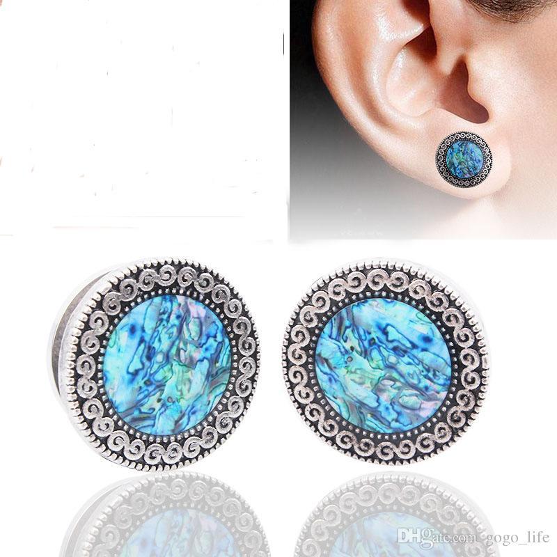 1 Paar Edelstahl Ohrstöpsel Tunnel Flesh Erweiterungen Piercing Ohrstöpsel Ohrring Messgeräte Ohren Expander Ringe Körper Schmuck