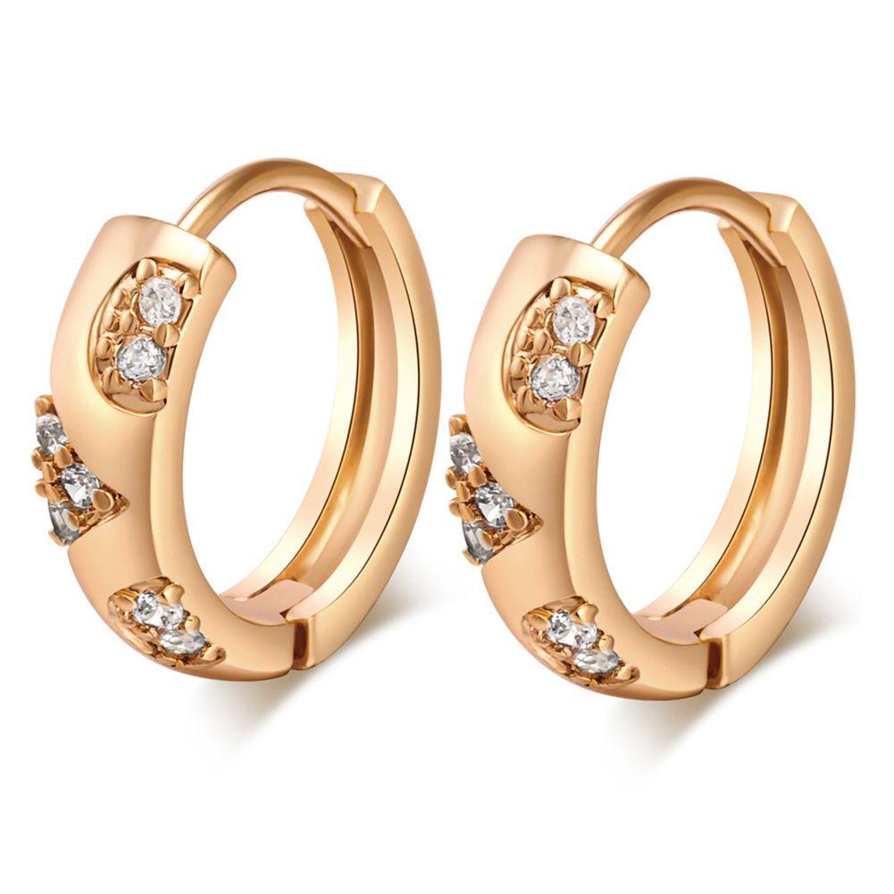 4989212525 Fashion Hoop Huggie Earrings Cubic Zirconia Plated Silver Stud Earrings  Anti-allergic Small Ear Rings for Womens