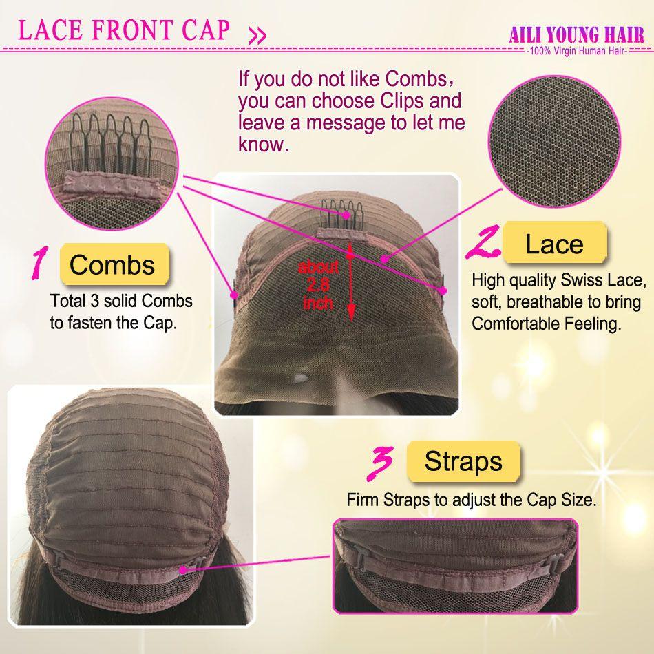 T # 1b / # 4 / # 27 Blonde Ombre Full Lace Pelucas de cabello humano Virgen brasileña Glueless Lace Front pelucas para mujeres negras Ombre U parte peluca