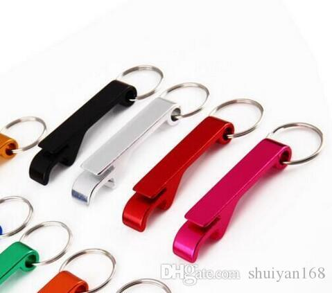 Key Chain Bottle Opener Beer Bottle Chain Ring Car Fashion Metal Aluminum Alloy Keychain Picnic Party Tool Custom Personalized DHL Free
