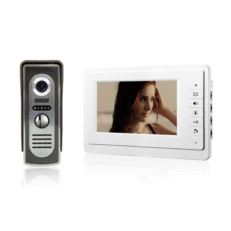 7 Inch Tft Color Video Door Phone Intercom System Ir Outdoor Metal