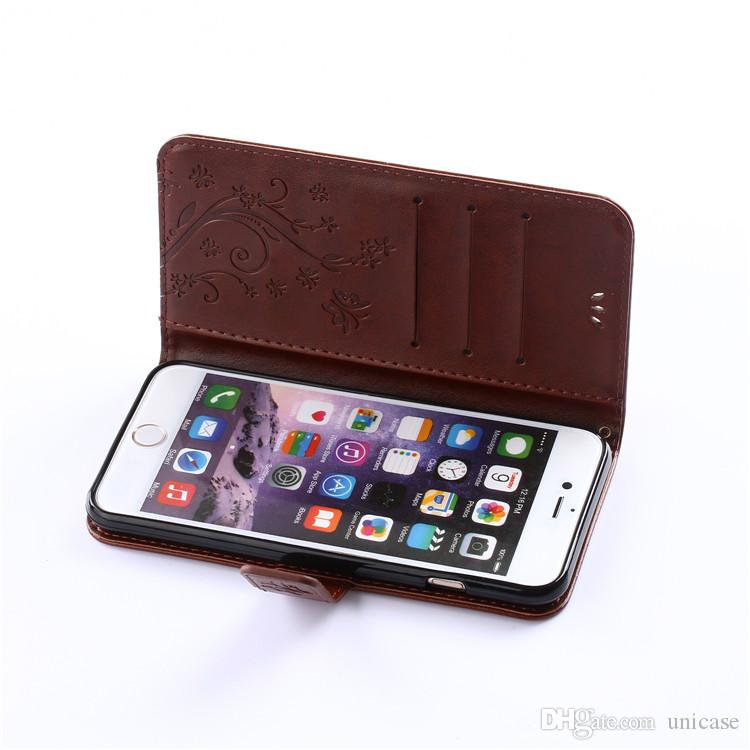 Hot Sale Flower PU Leather Wallet Card Stand Case Cover For Iphone 7 7plus 6/6s 5/5s Iphone 7Case