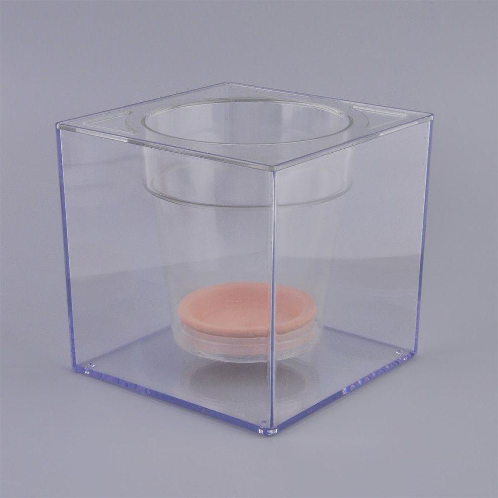 Diseño creativo Mesa Maceta Maceta Pescado Sistema de Riego Automático Por Goteo Pez Maceta Transparente Tanque de Peces