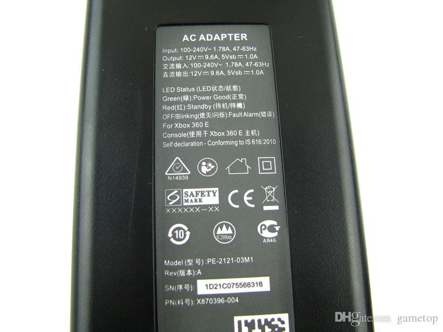 Nuovo arrivo 12V 135W Xbox360E Caricatore adattatore CA Cavo di alimentazione Xbox 360 Xbox360 E Adattatore CA Spina americana