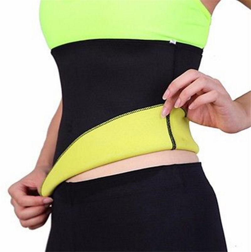 3e2c6979d9 2019 Hot Shapers Neoprene Black Waist Cincher Fit Sweat Body Shaper Belts Slimming  Weight Loss Waist Trainer Belt For Women Corset CO135 From Riccio