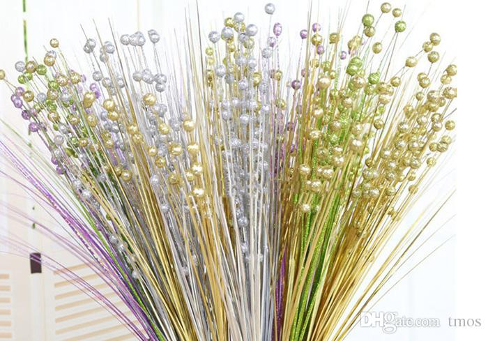 2019 295inch Golden Silver Glitter Bling Beads Artificial Flower
