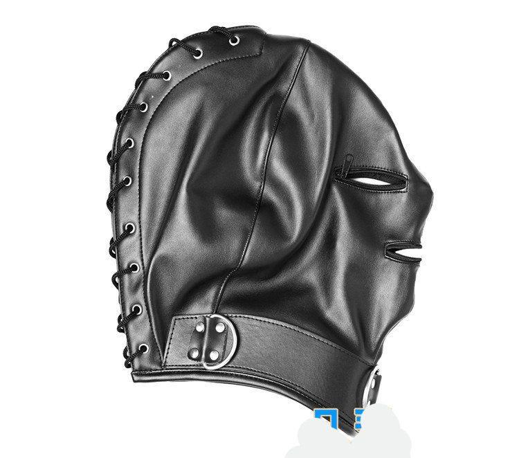 Head Mask Sex Hood Adult Games Fetish Hood Mask,Black Expose Mouth Eye Slave Hoods Sex Product Toys BDSM Bondage