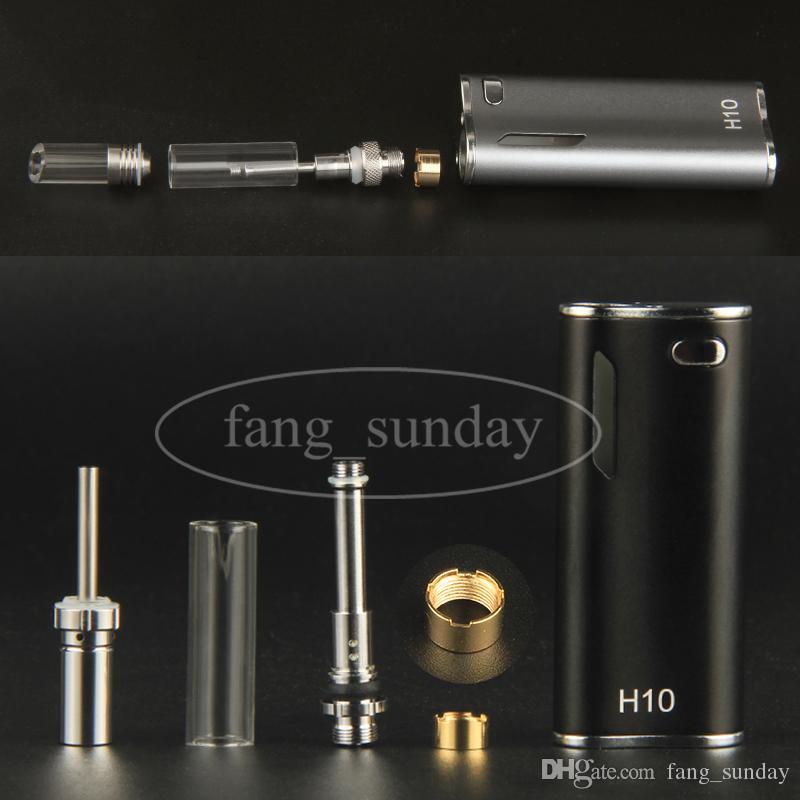 Original H10 Thick Oil Bud Starter Kit 650mAh Box Mod Vapes Pen Glass Cartridge Magnetic Ecigarette .8ml Atomizer Tank Plastic Case ecigs