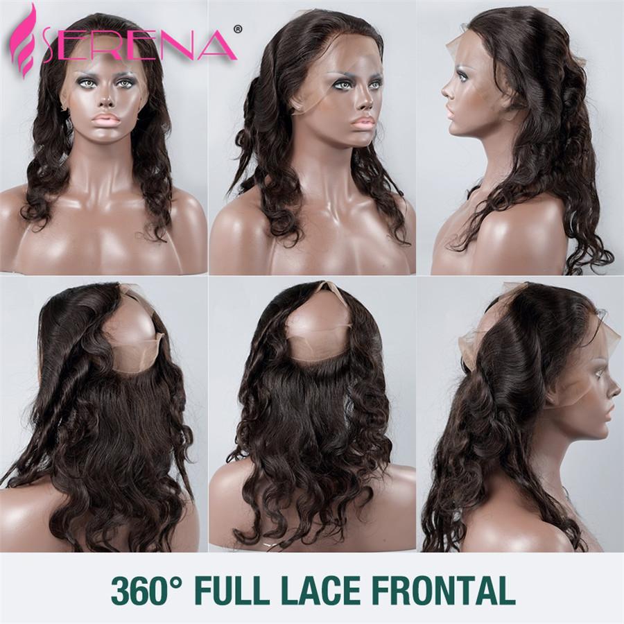 Pre plucked 360 Lace Frontal Avec Bundles Vague De Corps Brésilien Vierge Cheveux 7A Trames De Cheveux Humains 360 Lace Band Avec Bébé Cheveux Ondulés
