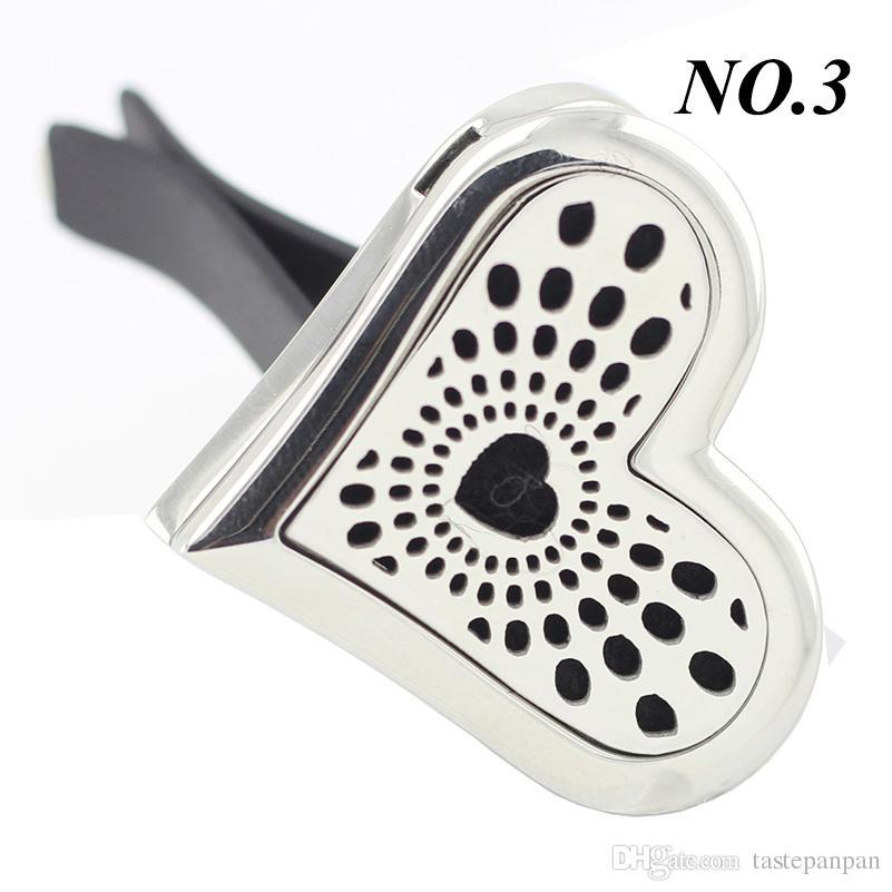 En gros En Acier Inoxydable 316L Désodorisant Huile Essentielle De Voiture Vent Parfum Aromathérapie Diffuseur Médaillon Ventilateur
