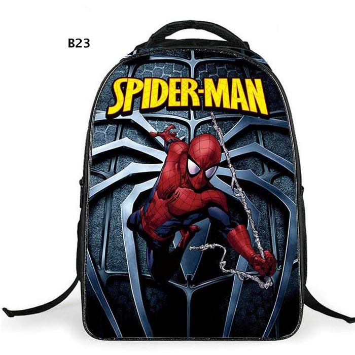 New Spider Man Backpack Boys Girls School Bags Spiderman Bag For Teenagers Student Birthday Gifts free ship