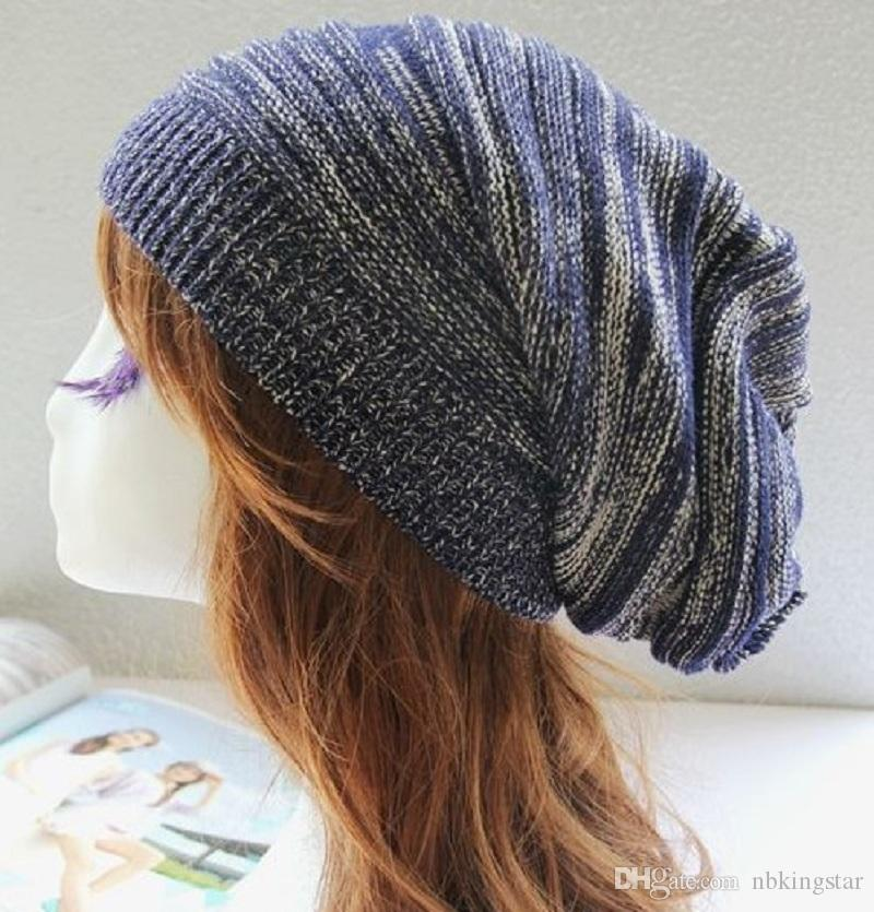 2017 Unisex Winter Bonnet Skullies Hut Warme Stretch Gestrickte Acryl Frühling Heap caps Für Männer Und Frauen Beanie Hüte Slouch