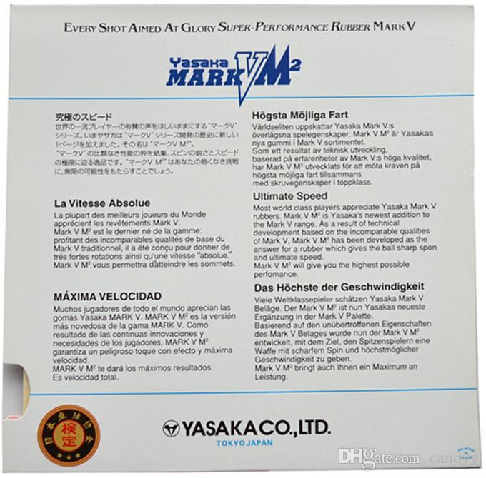 Alta Qualidade YASAKA Mark V M2 Borrachas De Tênis De Mesa / Pingpong De Borracha Para A Lâmina De Tênis De Mesa / Raquete / Morcegos Frete Grátis