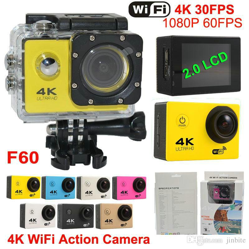 Ultra HD 4K Action camera WiFi Sports Camera 4K/30fps 1080P/60fps 170D  Helmet Cam go SJ4000 Style waterproof camera pro Car Record JBD-N8