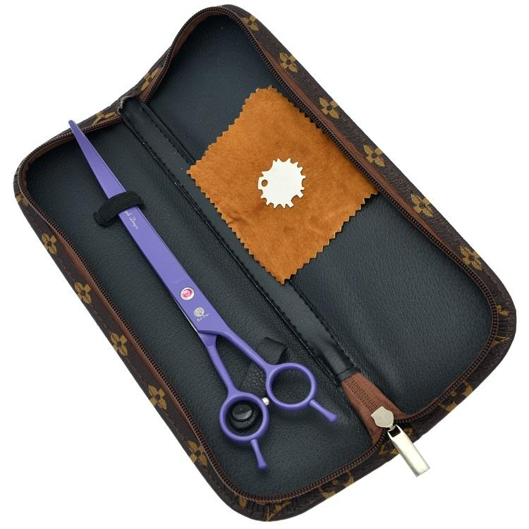 9.0Inch Purple Dragon Curved Cutting Scissors JP440C Sharp Pet Scissors Dog Grooming Shears Animals Hair Cutting Tools Pet Supplies ,LZS0502