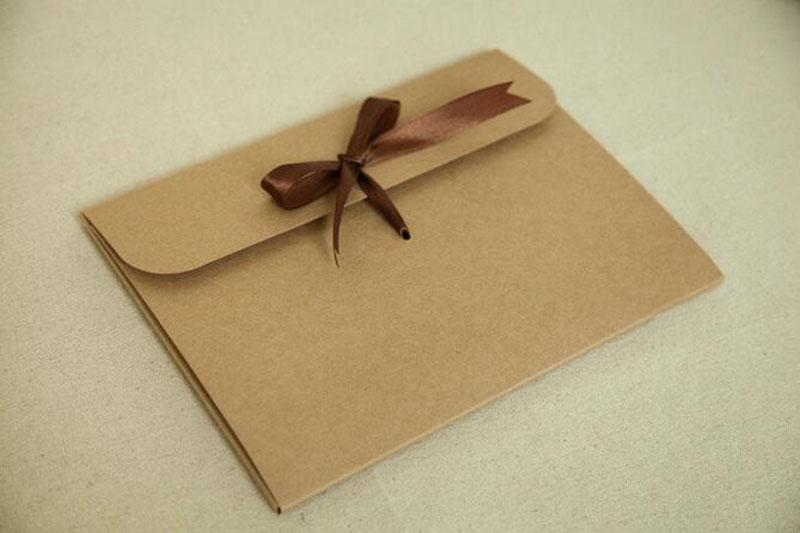 New 24*18*0.7cm Envelope Kraft Paper Bags Diy Collect Files Use As Gift Love Letter Packaging High Quality Hot Sale