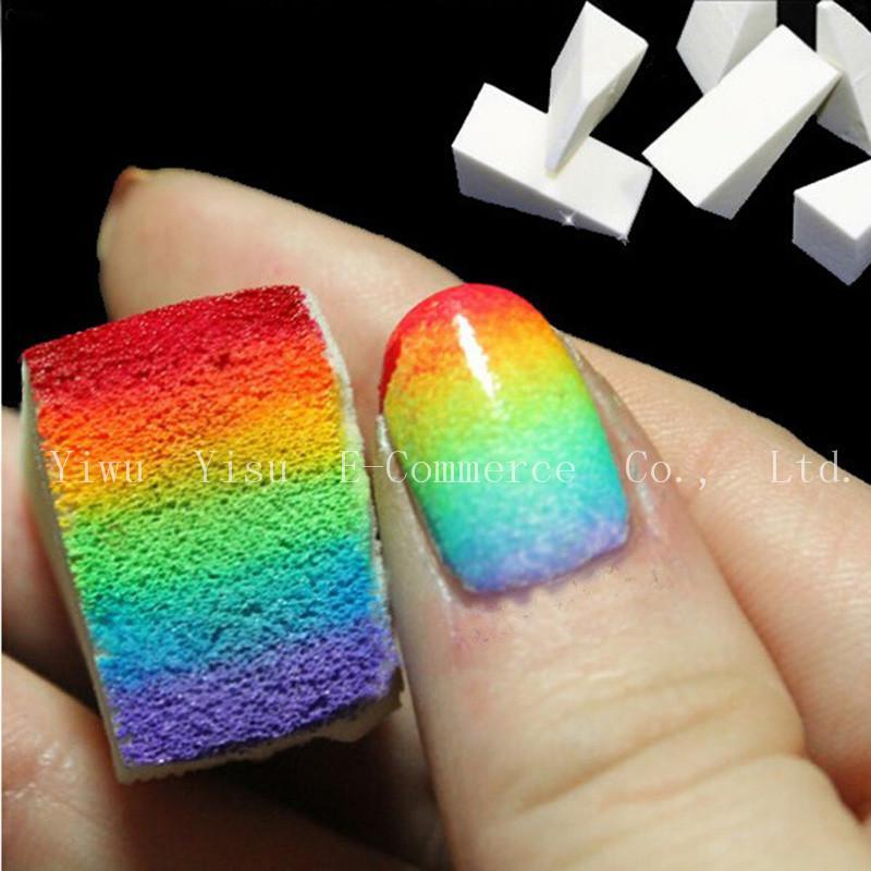 Wholesale Hot Gradient Nails Soft Sponges For Color Fade Manicure ...