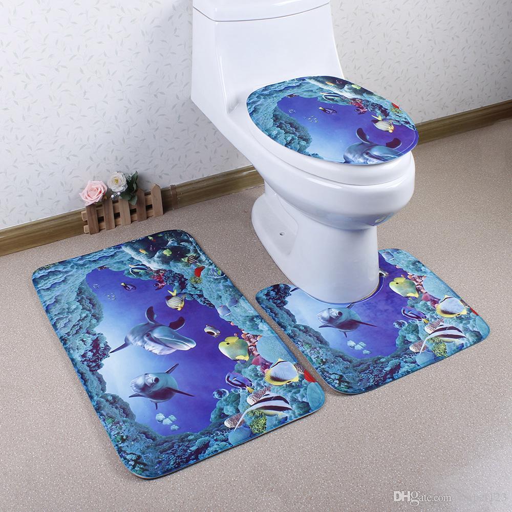 2018 Custom Print Anti Slip Bath Mat Set Non Slip Floor Carpet ...