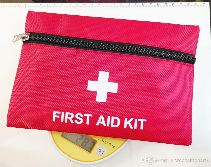 Precision New Erste-Hilfe-Überlebens-Wickel-Ausrüstung Hunt Camp-Notfall-Kits packen leere Tasche Rot Farbe 20 * 14 cm 1680D Oxford-Tuch