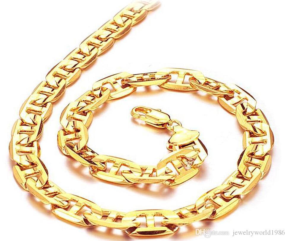 Snel gratis verzending 18K gouden ketting, gratis verzending, fabriek direct, lengte: 51cm, gewicht: 40 g