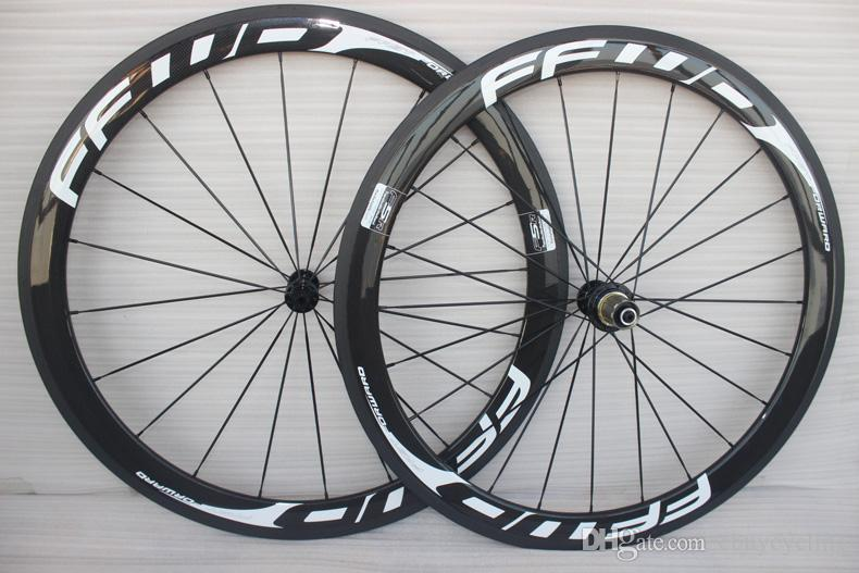 700C Racing Bicycle carbon wheels 50mm FFWD Carbon Road Bike Wheelset clincher 23mm width cadre carbone