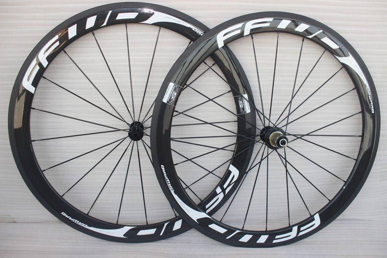 700C Racing Vélo Roues En Carbone 50mm FFWD Carbone Vélo De Route Roue Ensemble De Roue 23mm largeur cadre carbone