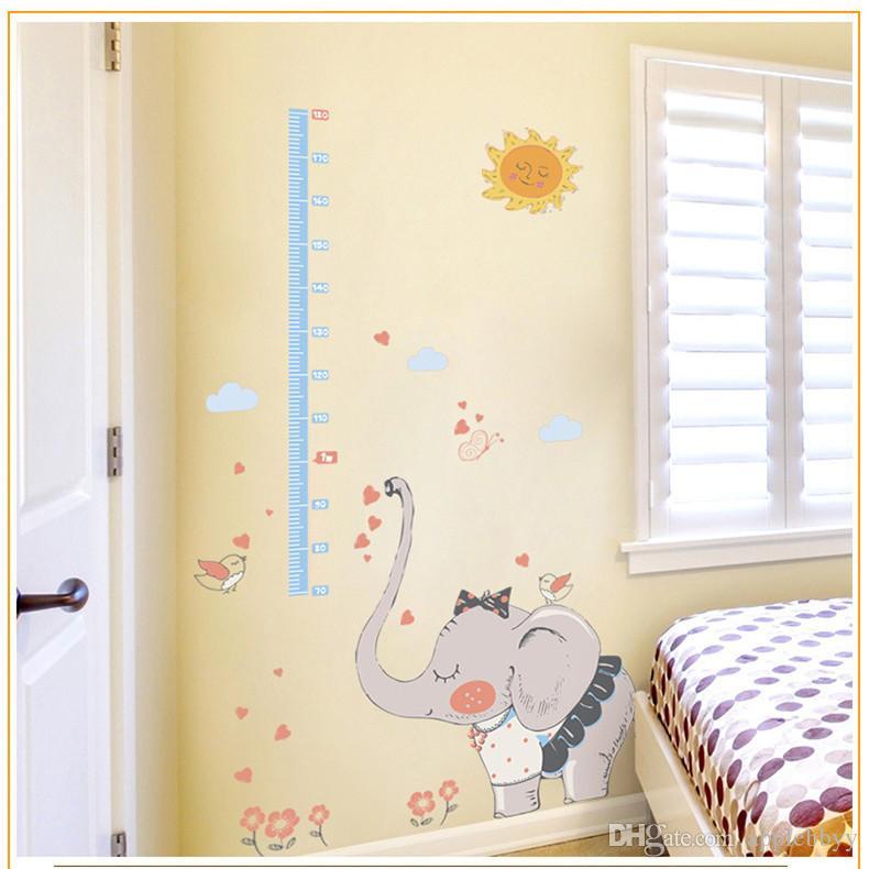 قرد تسلق ارتفاع ارتفاع عصا الأطفال نوم خلفية الكرتون ملصقات الحائط الزرافة ملصقات الحائط رياض الأطفال