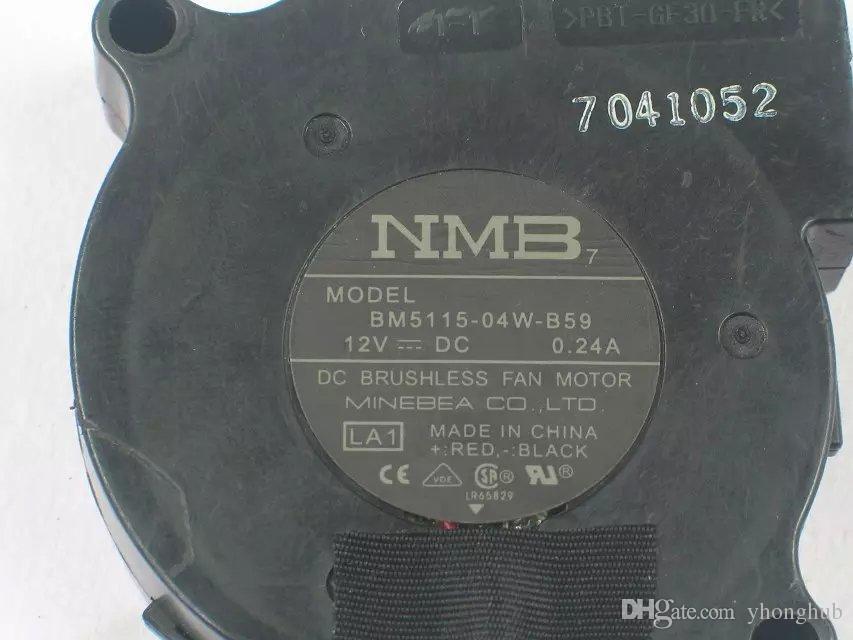 Freies Verschiffen für NMB BM5115 -04W-B59 LA1 DC 12V 0.24A 3-Draht 3-Pin-Stecker 50mm 50x50x15mm Server Gebläse Lüfter