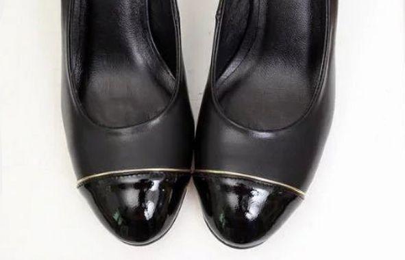 fashionville~ U702 40 genuine leather gold line thick heels black grey runway celeb designer runway c b luxury brand