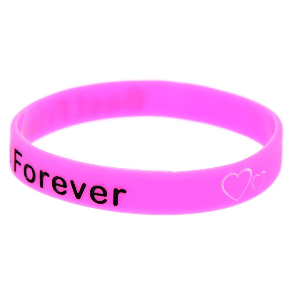 Debossed BFF - Best Friends Forever Silicone Rubber Wristband Perfect To Use In Any Benefits Gift