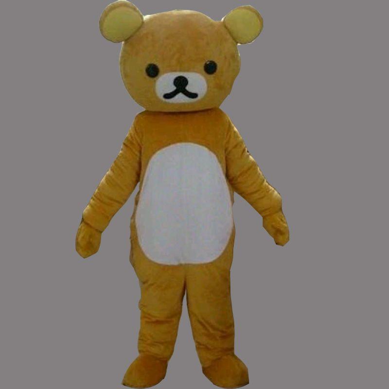 Cute Teddy Bear Adult Size Mascot Costume Fancy Birthday Party Dress