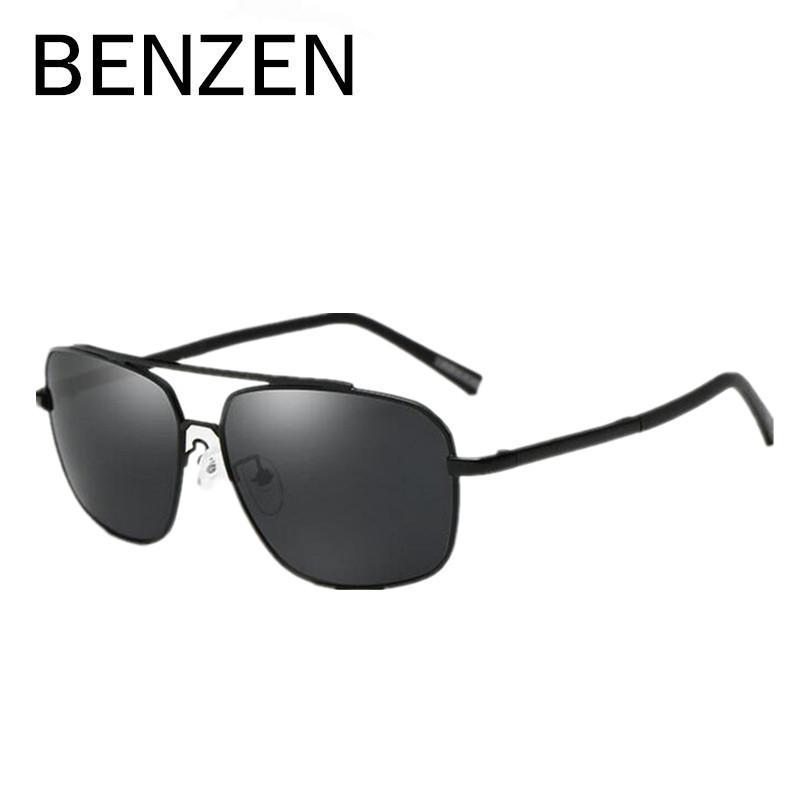 de6df9fbbbf Wholesale- BENZEN Sunglasses Men Polarized Square Male Sun Glasses ...