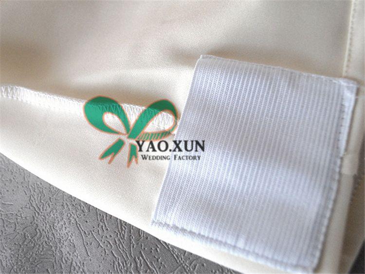 Gute Qualität schwarze Farbe Lycra Spandex Stuhlabdeckung auf Hochzeitsdekoration verwendet