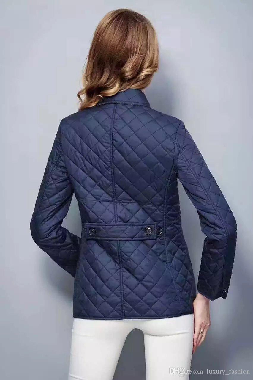 Hot classique! Femmes mode angleterre court coton mince manteau rembourré / concepteur marque de haute qualité veste pour les femmes taille S-XXL # 19010 Livraison gratuite