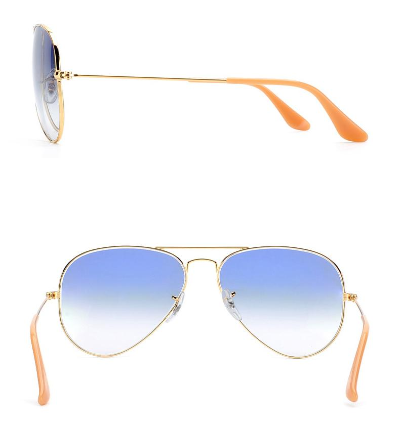 Metal Sunglasses Gradient Gray Blue red sunglasses pilot Style glass Sun Glasse oculos de sol FEMININO UV400 Men Women Sunglasses 58mm 62mm