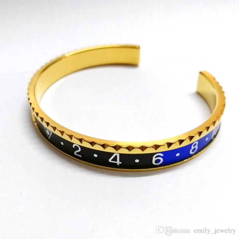 Il braccialetto d'acciaio placcato d'argento d'annata di Pulseras dell'acciaio inossidabile di titanio superiore 316L l'acciaio inossidabile del bracciale del tachimetro del polsino degli uomini libera il trasporto